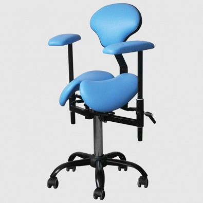 SADDLE PRO Doctor's stool for working with a microscope