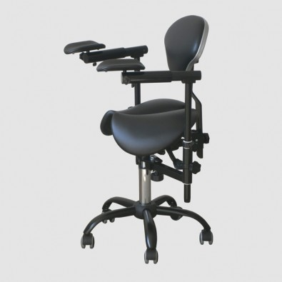 SADDLE SLIDE SADDLE SLIDE Doctor's stool for working with a microscope